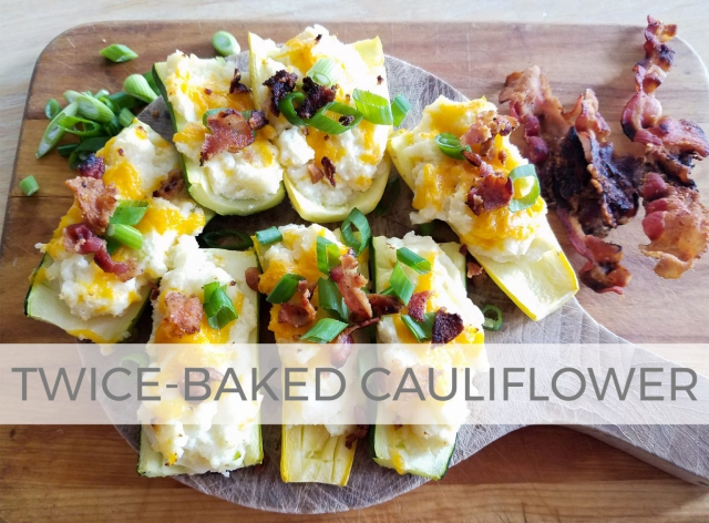 Potatoless Twice-Baked Potato Cauliflower Bake | Recipe by Larissa of Prodigal Pieces | prodigalpieces.com