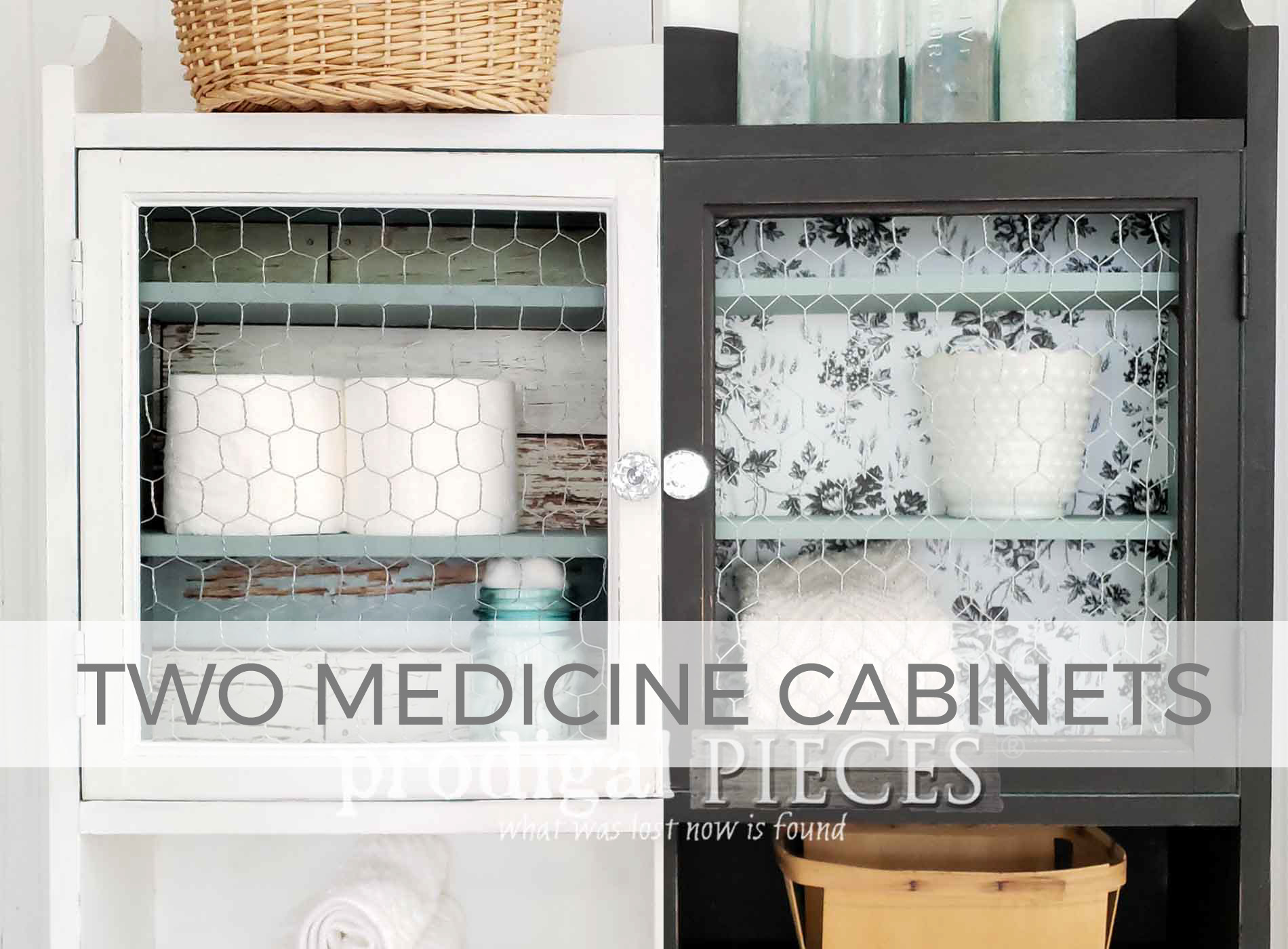 Two Medicine Cabinets Makeover by Larissa of Prodigal Pieces | prodigalpieces.com #prodigalpieces