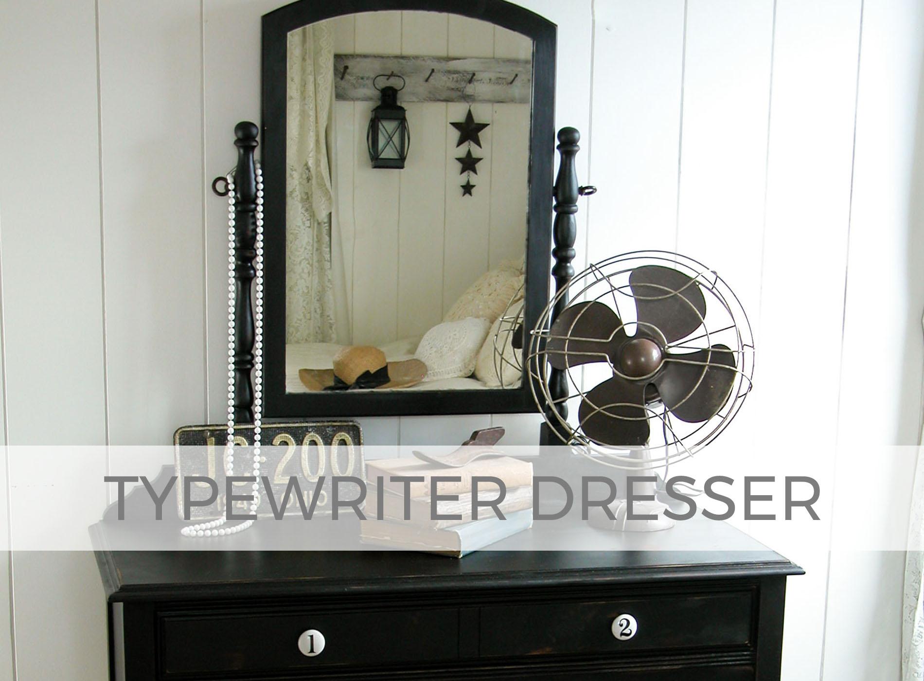 Typewriter Dresser in Black by Larissa of Prodigal Pieces | prodigalpieces.com