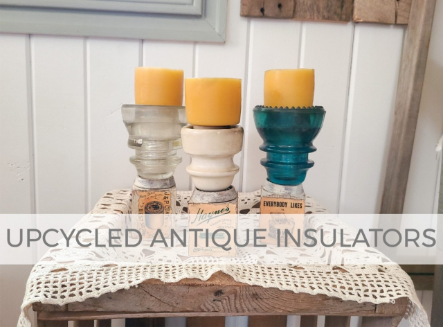 Upcycled Antique Insulators as Candle Holders by Larissa of Prodigal Pieces | prodigalpieces.com
