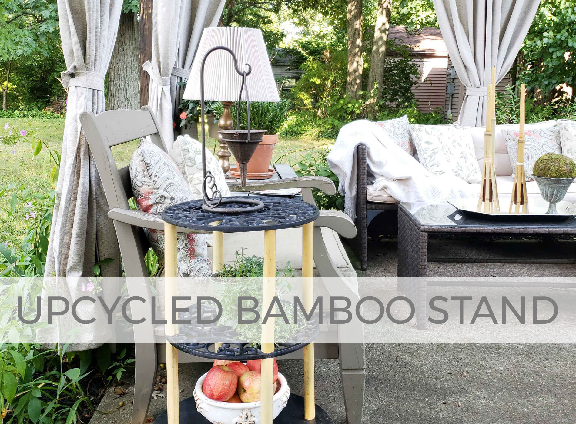Upcycled Bamboo Stand by Larissa of Prodigal Pieces | prodigalpieces.com