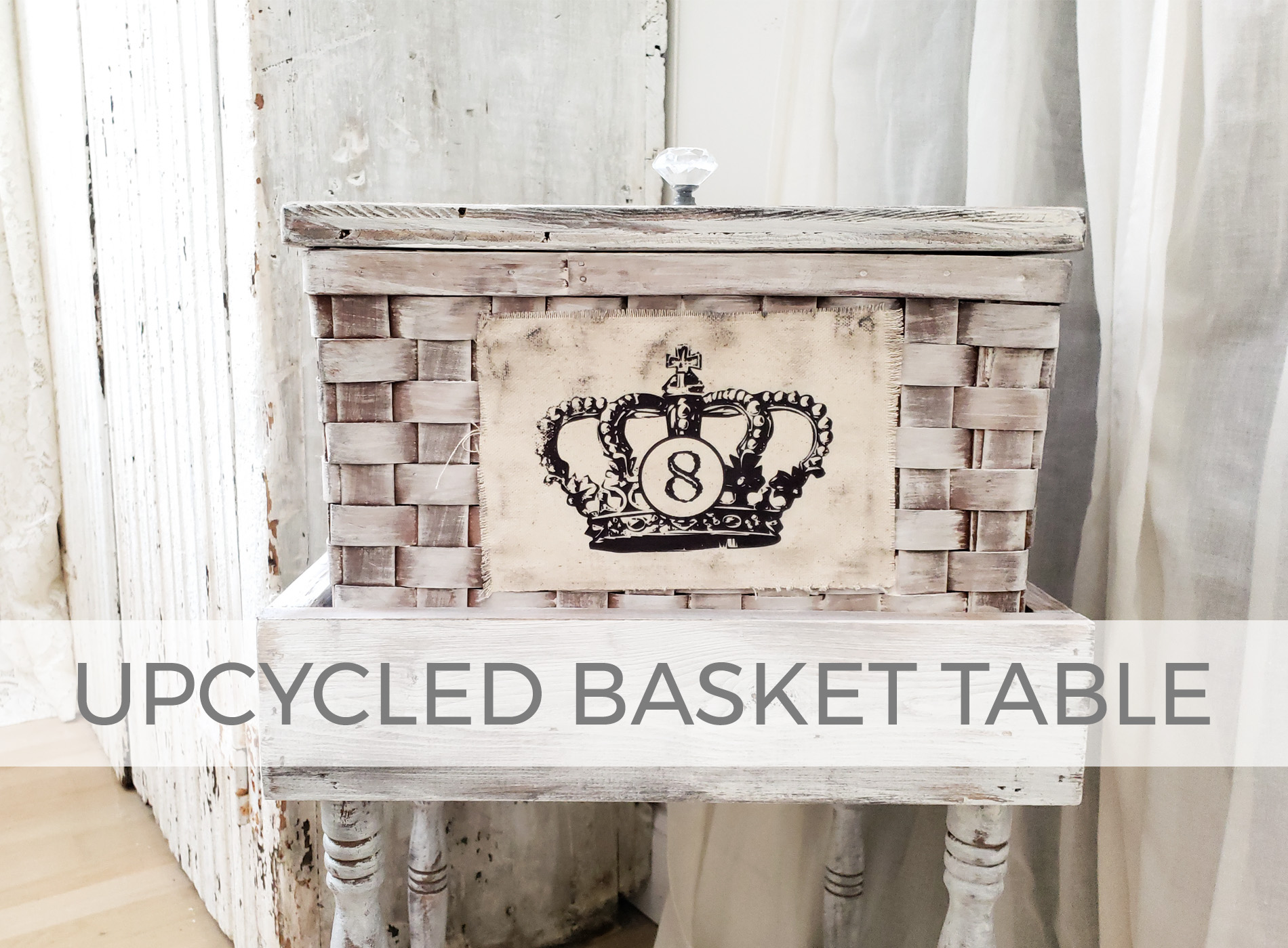 Upcycled Basket Table Built by Larissa of Prodigal Pieces | prodigalpieces.com #prodigalpieces