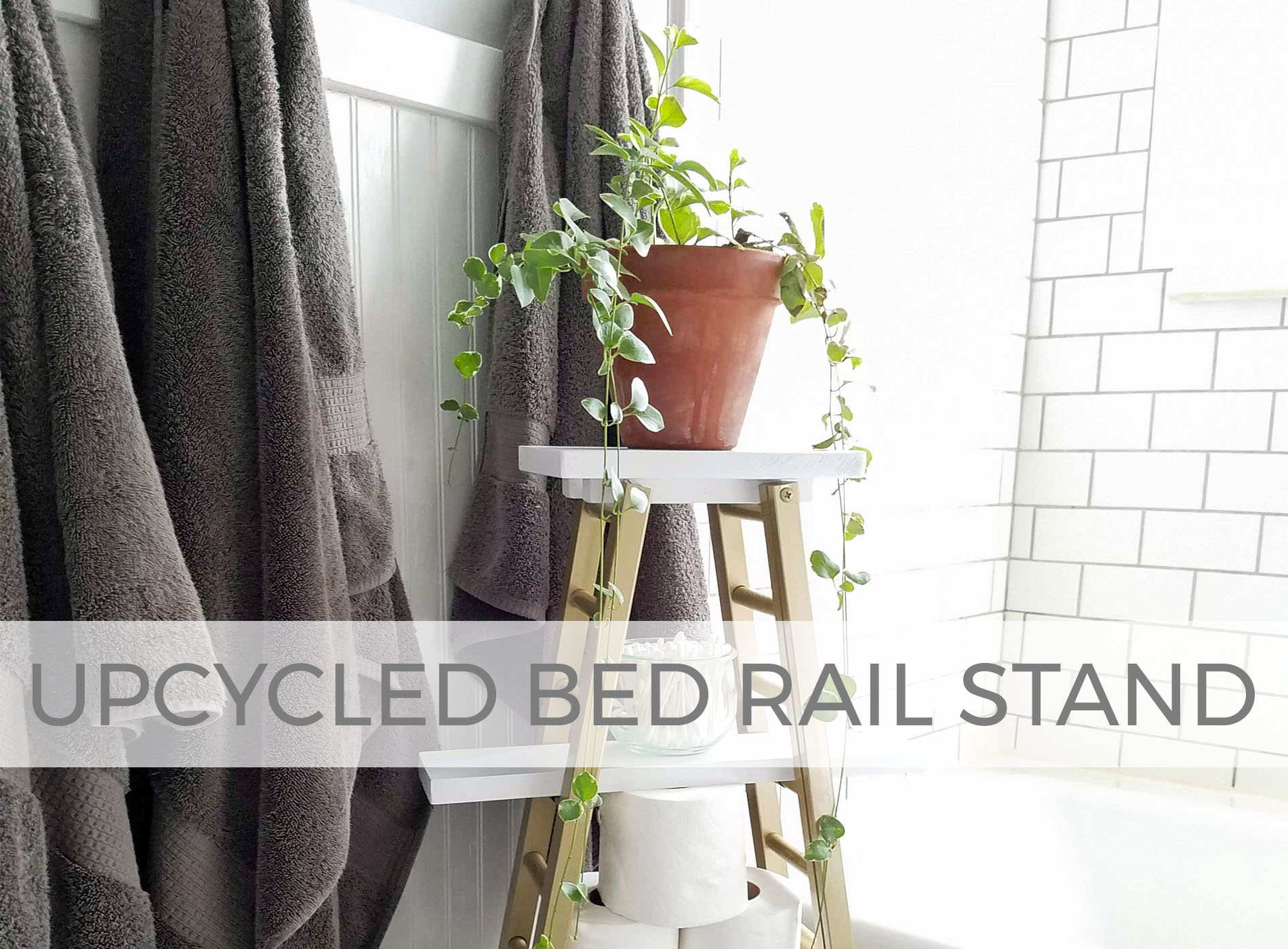 Upcycled Bed Rail Stand by Larissa of Prodigal Pieces | prodigalpieces.com