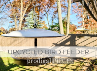 Upcycled Bird Feeder from Misfit Parts by Larissa of Prodigal Pieces | prodigalpieces.com #prodigalpieces
