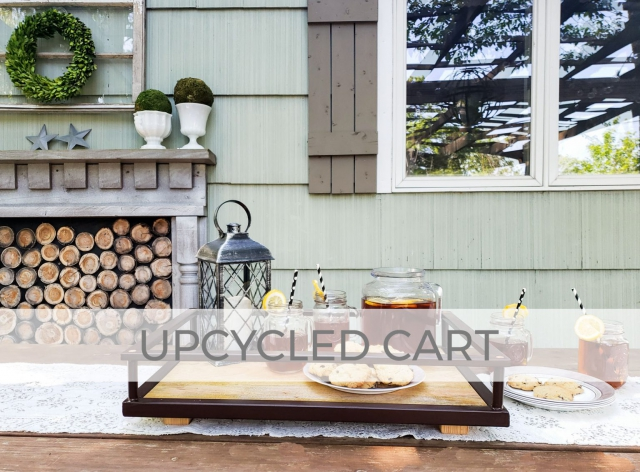 Upcycled Serving Cart into Serving Trays by Prodigal Pieces | prodigalpieces.com