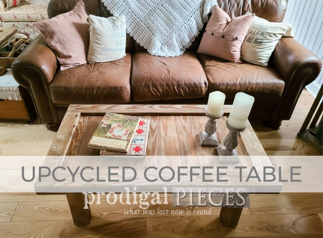 Upcycled Coffee Table by Larissa of Prodigal Pieces | shop.prodigalpieces.com #prodigalpieces
