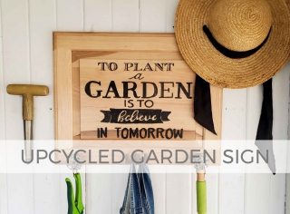 Upcycled Garden Sign Cupboard Door by Prodigal Pieces | prodigalpieces.com
