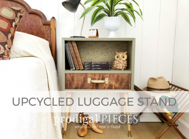 Upcycled Luggage Stand by Larissa of Prodigal Pieces | prodigalpieces.com