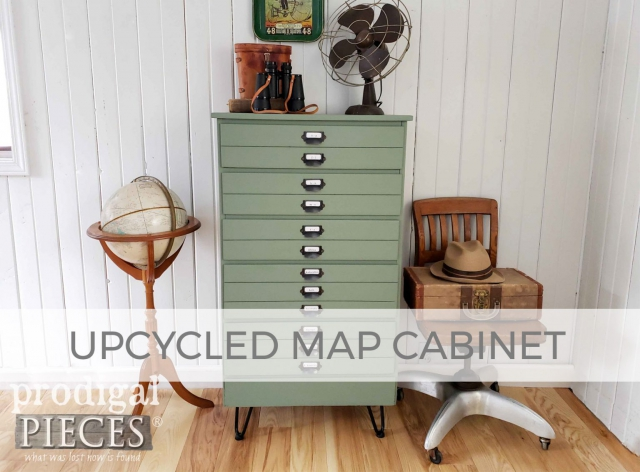 Upcycled Map Cabinet from Chest of Drawers by Larissa of Prodigal Pieces | prodigalpieces.com #prodigalpieces