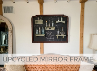 Upcycled Mirror Frame into Chalkboard Style Wall Art by Larissa of Prodigal Pieces   prodigalpieces.com