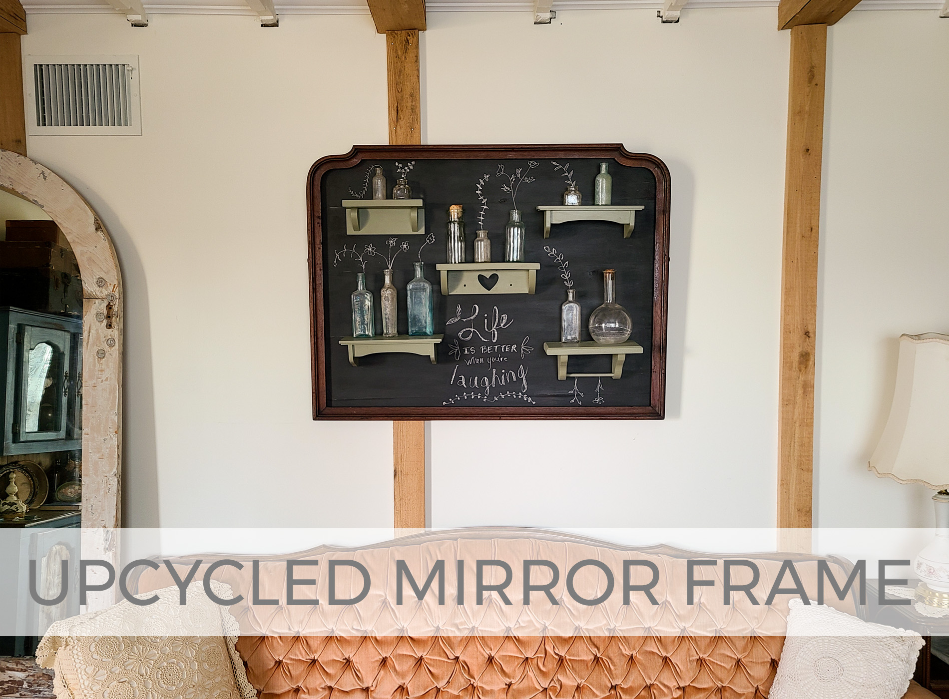 Upcycled Mirror Frame into Chalkboard Style Wall Art by Larissa of Prodigal Pieces | prodigalpieces.com