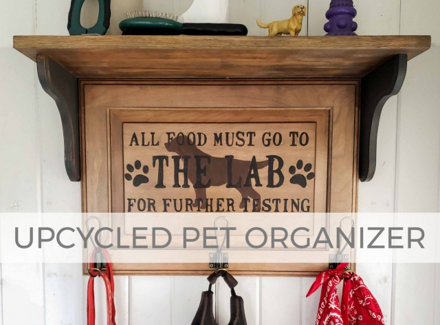 Upcycled Pet Organizer by Larissa of Prodigal Pieces | prodigalpieces.com