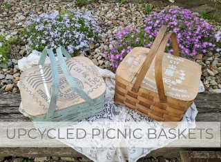 Upcycled Picnic Baskets by Larissa of Prodigal Pieces   prodigalpieces.com