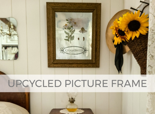 Upcycled Antique Picture Frame by Larissa of Prodigal Pieces | prodigalpieces.com
