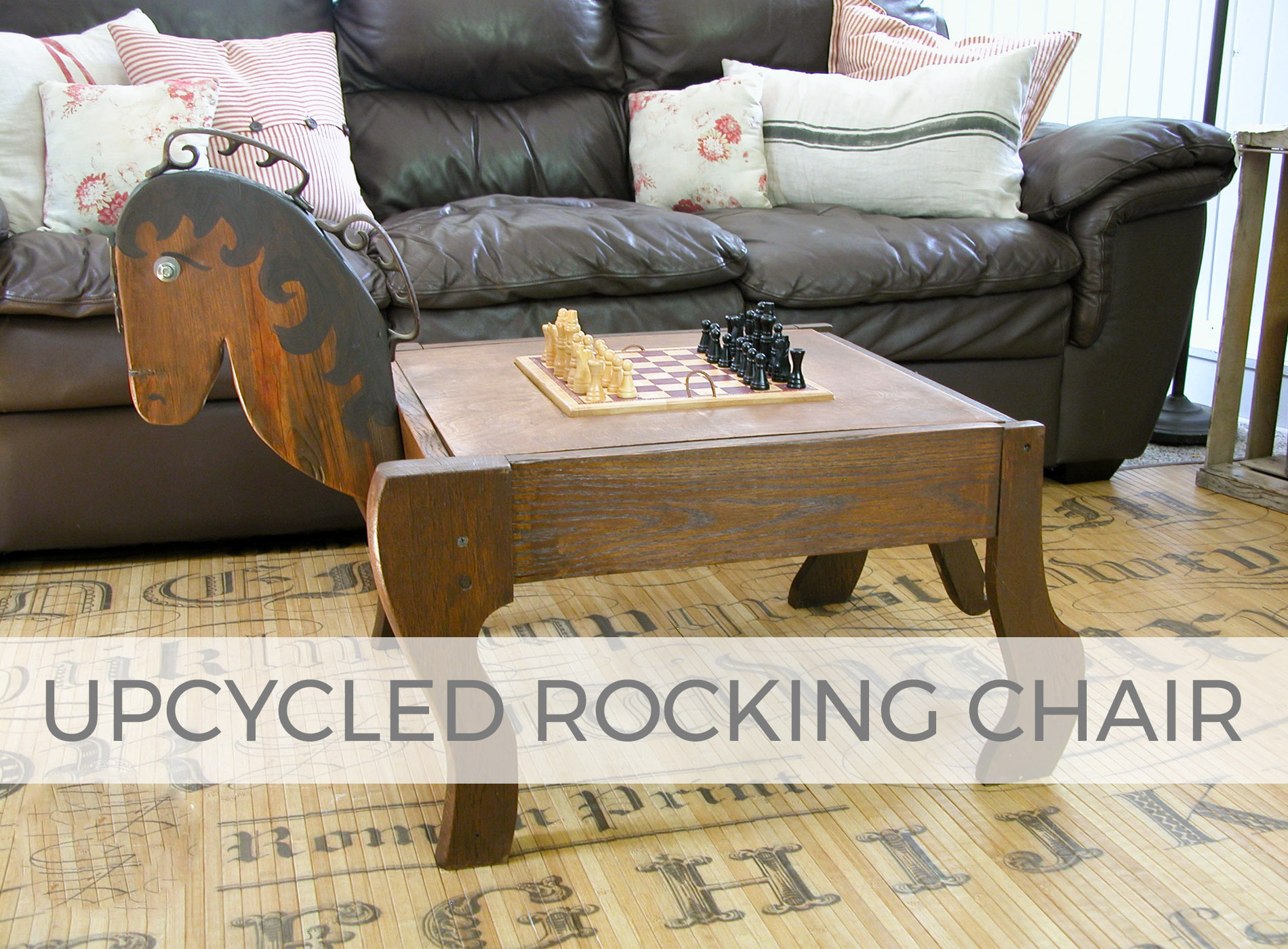 Upcycled Rocking Chair into Game Chair by Larissa of Prodigal Pieces | prodigalpieces.com #prodigalpieces