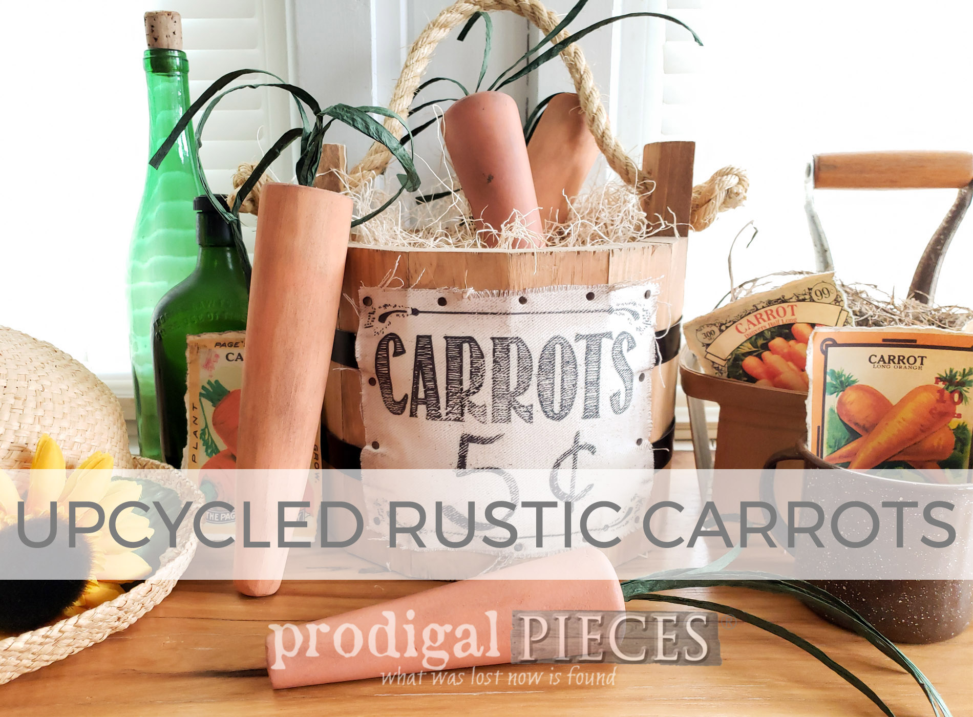 Upcycled Rustic Carrots by Larissa of Prodigal Pieces | prodigalpieces.com