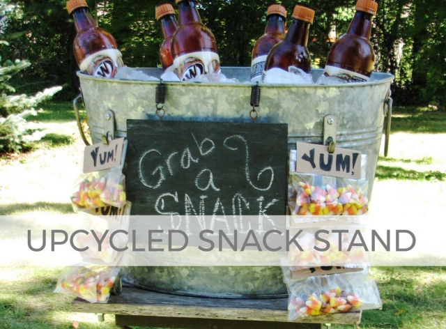 Upcycled Snack Stand by Larissa of Prodigal Pieces | prodigalpieces.com