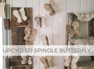 Create these upcycled spindle butterflies for salvaged art fun   Prodigal Pieces   prodigalpieces.com #prodigalpieces