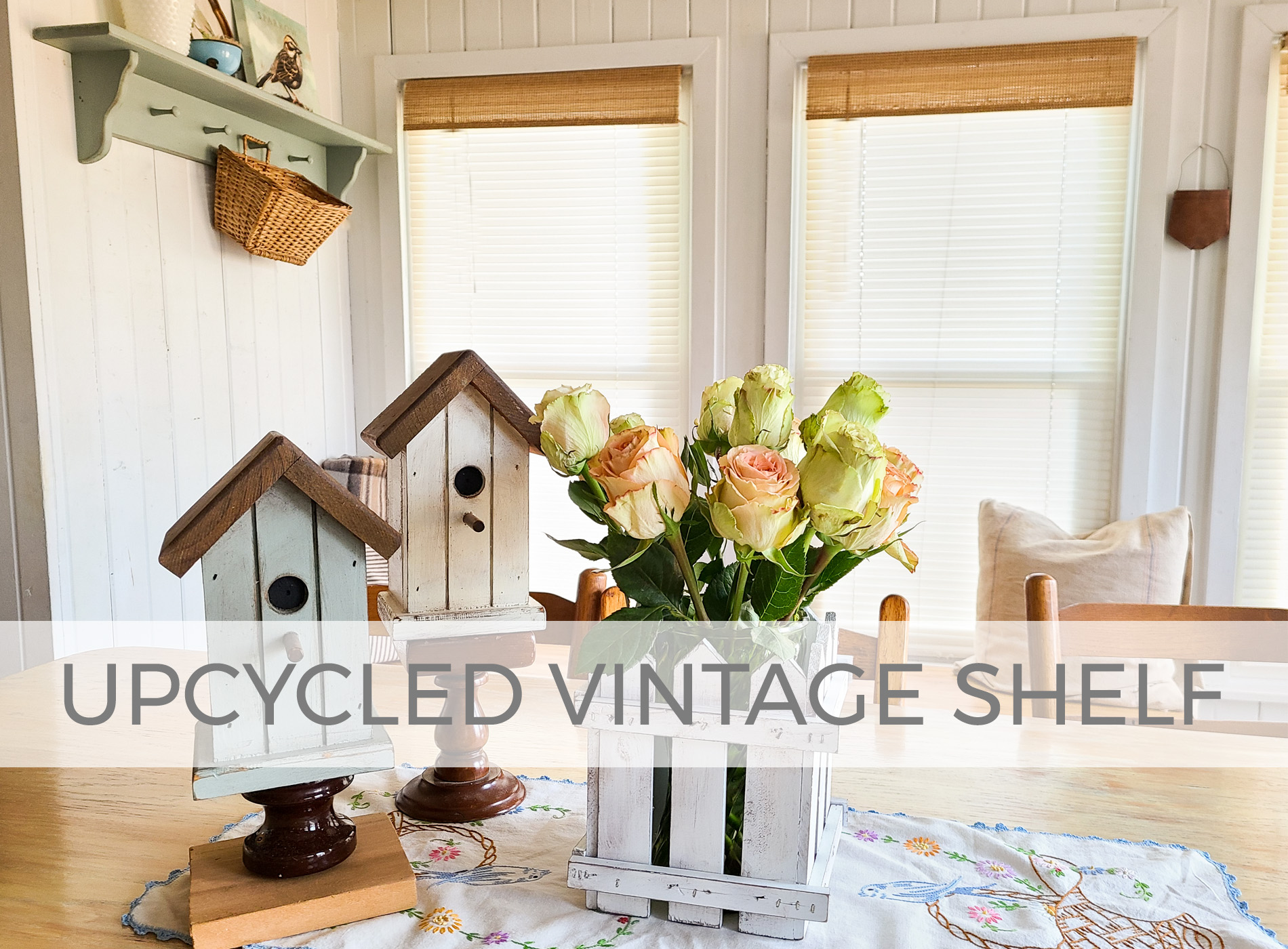 Upcycled Vintage Shelf into 4 Home Decor Projects by Larissa of Prodigal Pieces | prodigalpieces.com #prodigalpieces