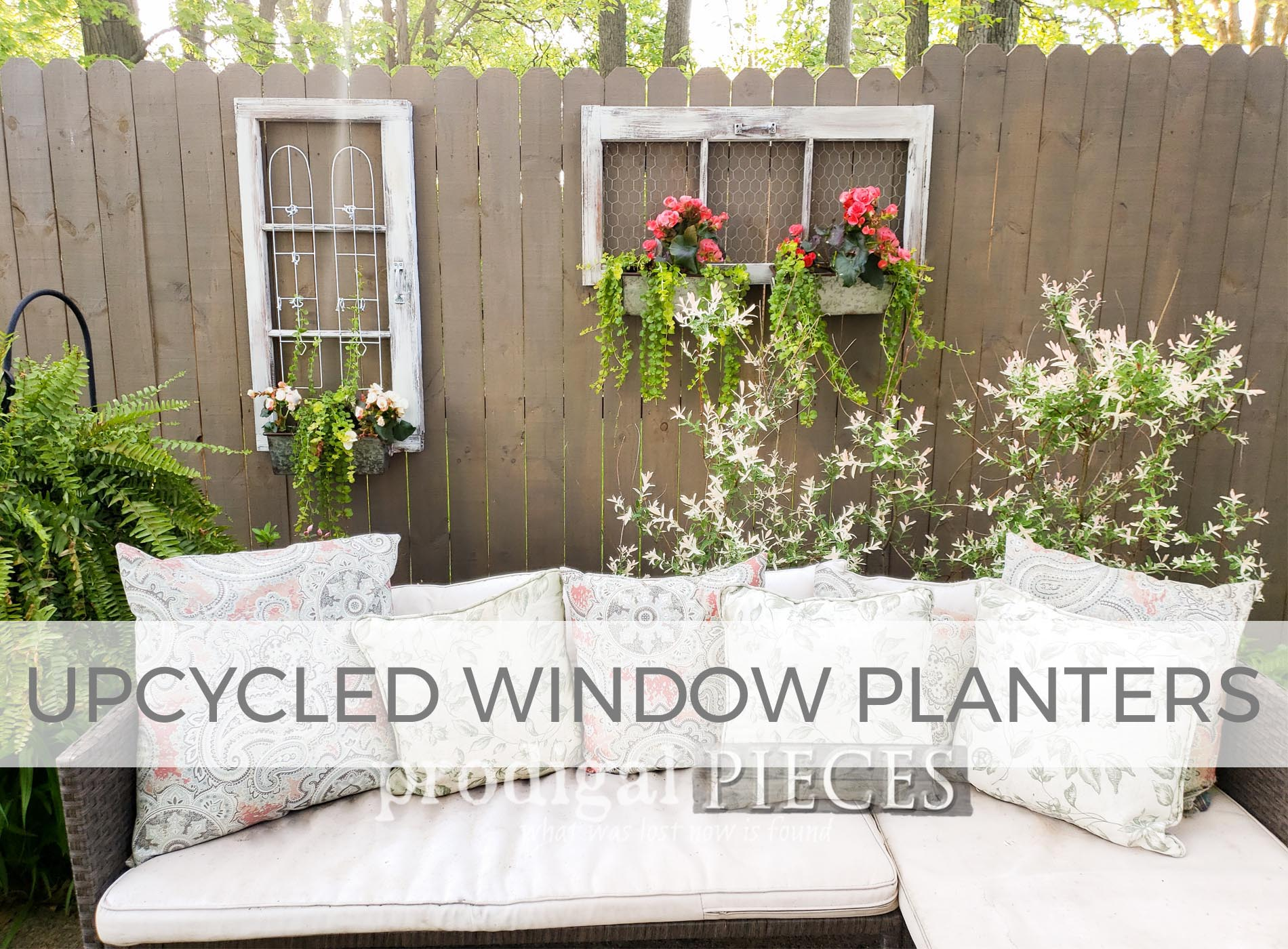 Upcycled Window Planters by Larissa of Prodigal Pieces | prodigalpieces.com #prodigalpieces