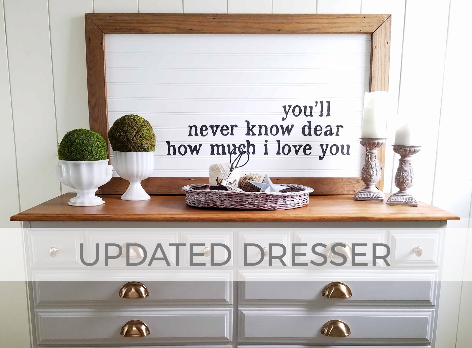 Updated Dresser & Upcycled Mirror by Larissa of Prodigal Pieces | prodigalpieces.com
