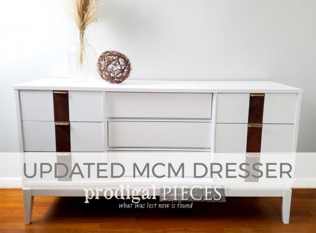 Updated Mid Century Modern Dresser by Larissa of Prodigal Pieces | prodigalpieces.com