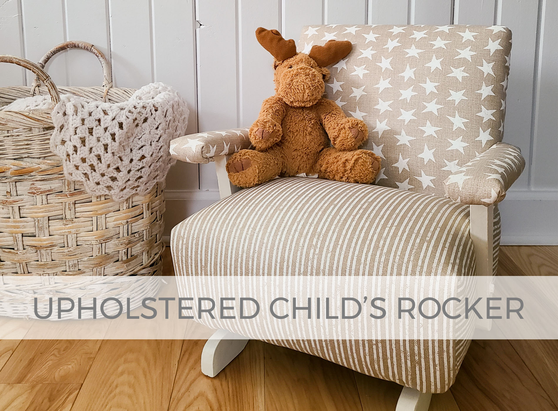 Upholstered Child's Rocker Makeover by Prodigal Pieces | prodigalpieces.com