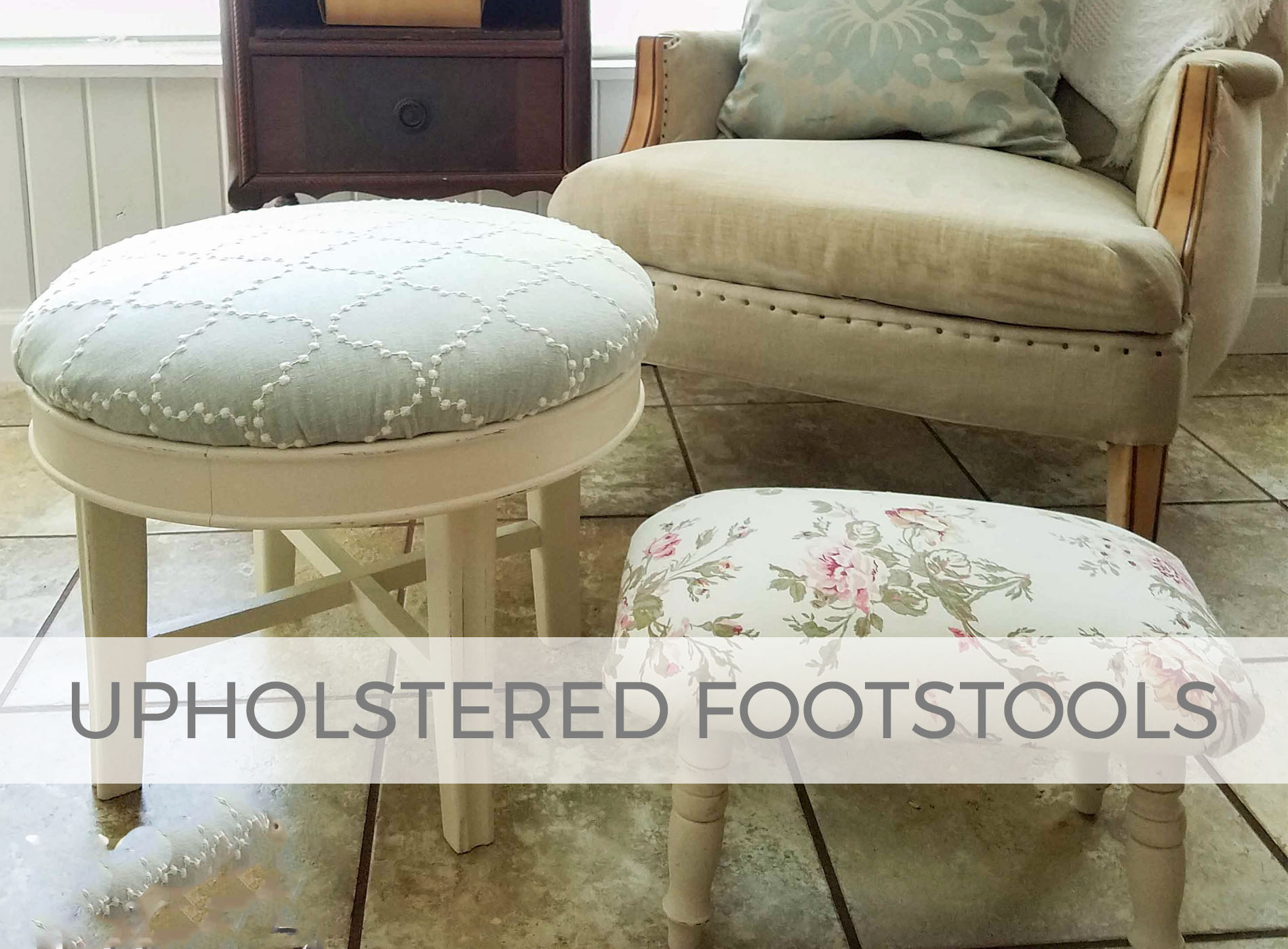 DIY Upholstered Footstools | prodigalpieces.com