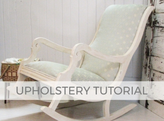 How to Upholstery a Rocking Chair | prodigalpieces.com #prodigalpieces