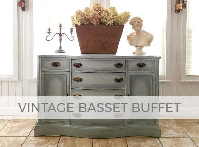 Vintage Basset Buffet Makeover by Prodigal Pieces | prodigalpieces.com #prodigalpieces