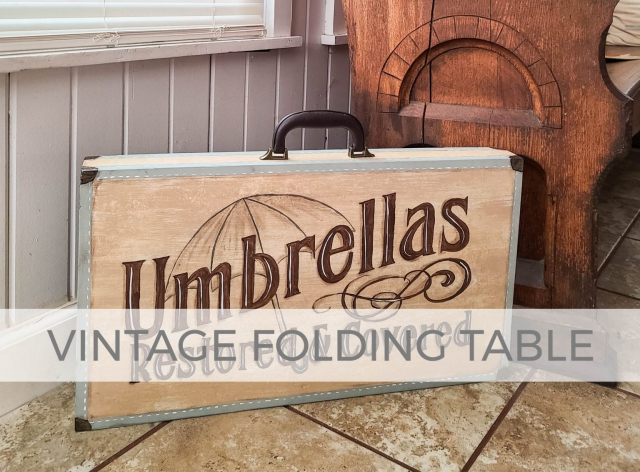 Vintage Folding Table Makeover by Larissa of Prodigal Pieces | prodigalpieces.com