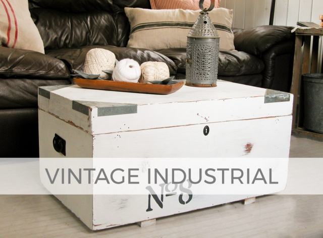 Vintage Industrial Blanket Chest by Larissa of Prodigal Pieces | prodigalpieces.com #prodigalpieces