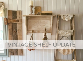 Vintage Shelf Update with DIY Embossing by Larissa of Prodigal Pieces | prodigalpieces.com