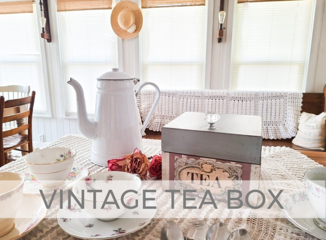 Vintage Tea Box Mini Makeover by Larissa of Prodigal Pieces | prodigalpieces.com