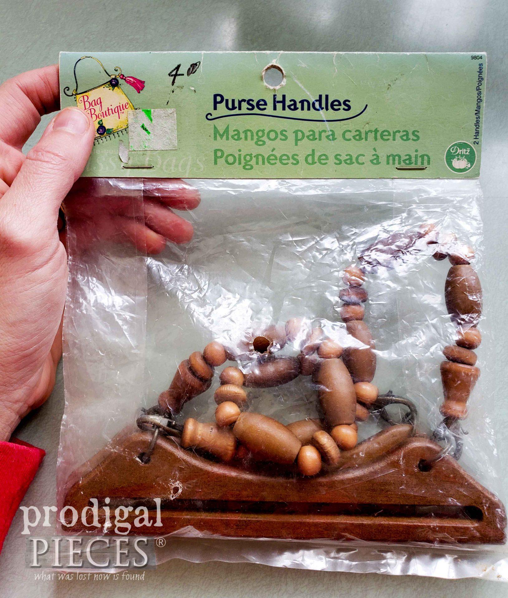 Vintage Wooden Beaded Purse Handles | prodigalpieces.com