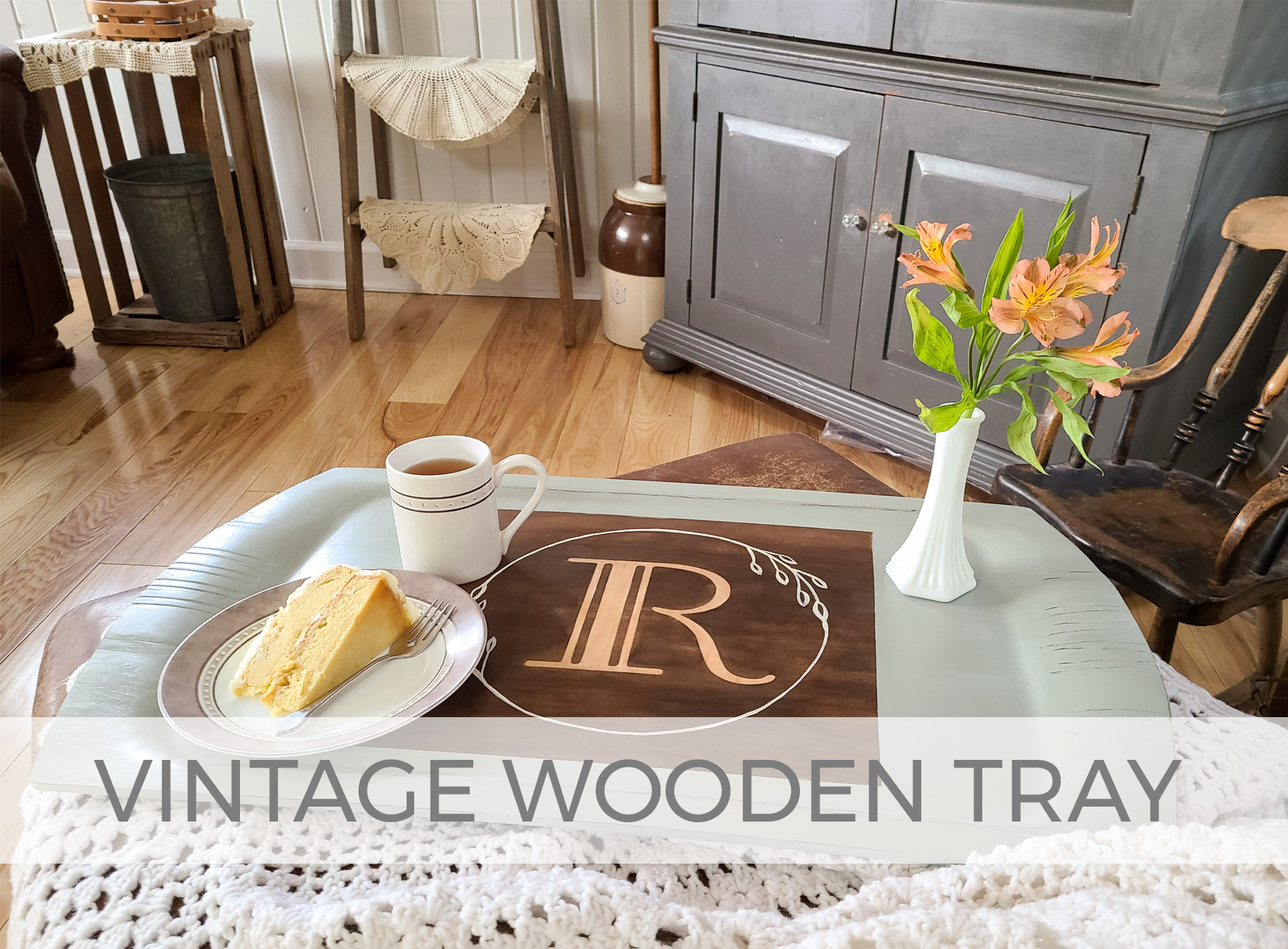 Vintage Wooden Serving Tray by Prodigal Pieces | prodigalpieces.com