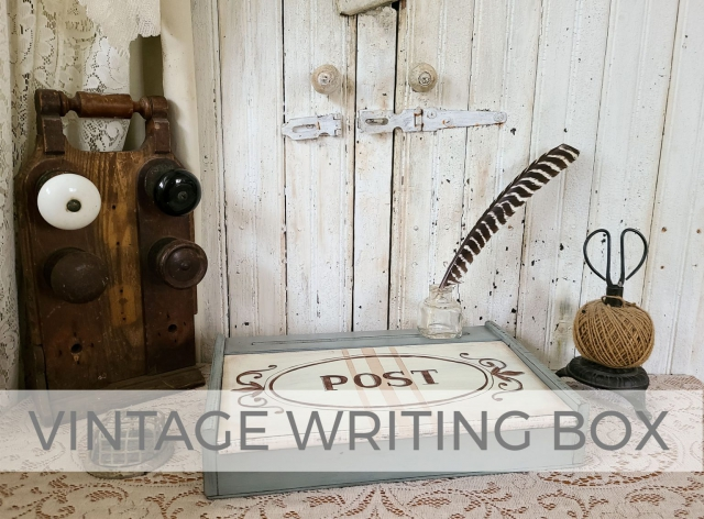 Vintage Writing Box Makeover by Larissa of Prodigal Pieces | prodigalpieces.com #prodigalpieces