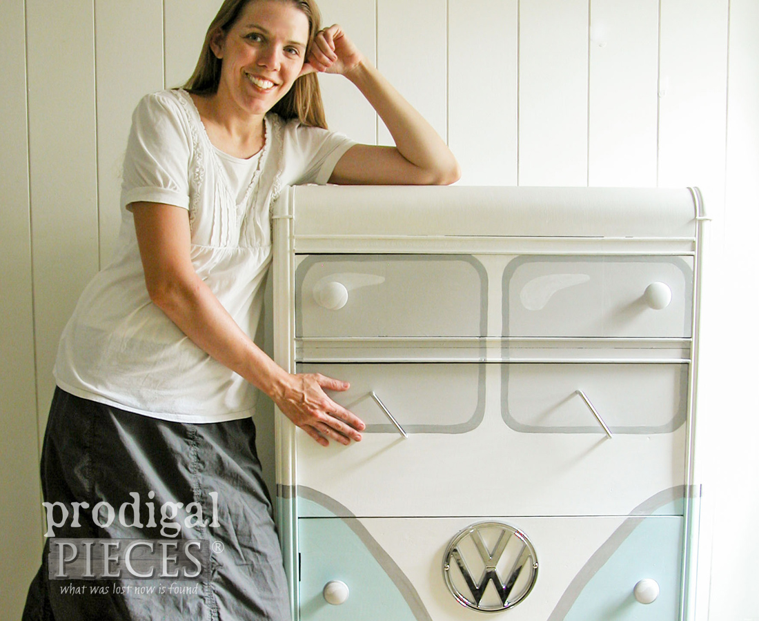 Volkswagen Chest Makeover by Larissa of Prodigal Pieces | prodigalpieces.com