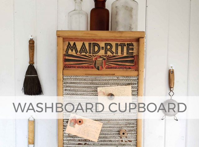 Antique Washboard with Silverware Box Cupboard by Larissa of Prodigal Pieces | prodigalpieces.com #prodigalpieces