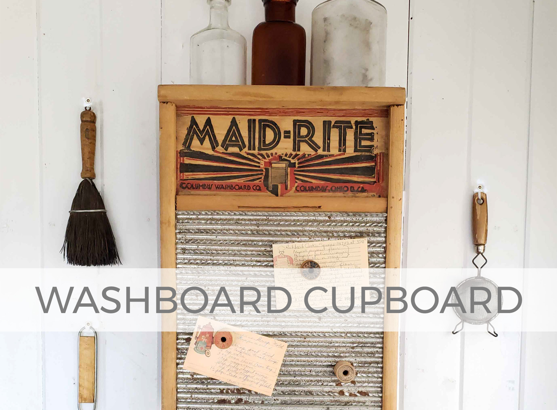 Upcycled Washboard and Silverware Box into Cupboard by Larissa of Prodigal Pieces | prodigalpieces.com