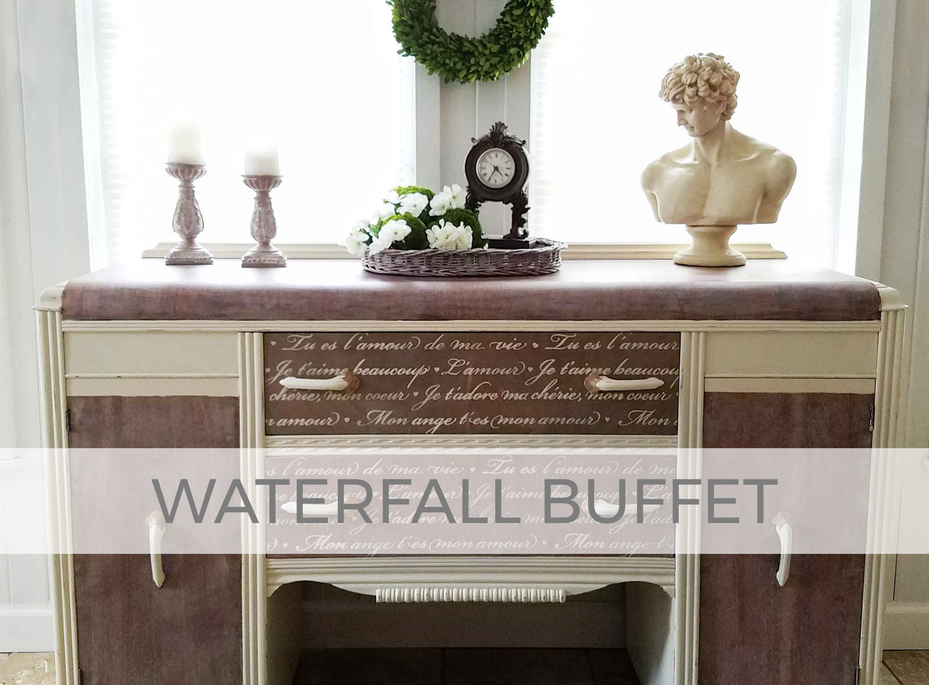 Antique Art Deco Waterfall Buffet by Prodigal Pieces | prodigalpieces.com