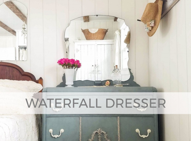 Antique Art Deco Waterfall Dresser by Prodigal Pieces | prodigalpieces.com