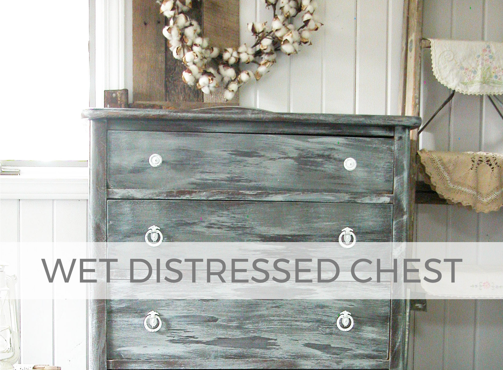 How to Distress with Water by Larissa of Prodigal Pieces | prodigalpieces.com #prodigalpieces