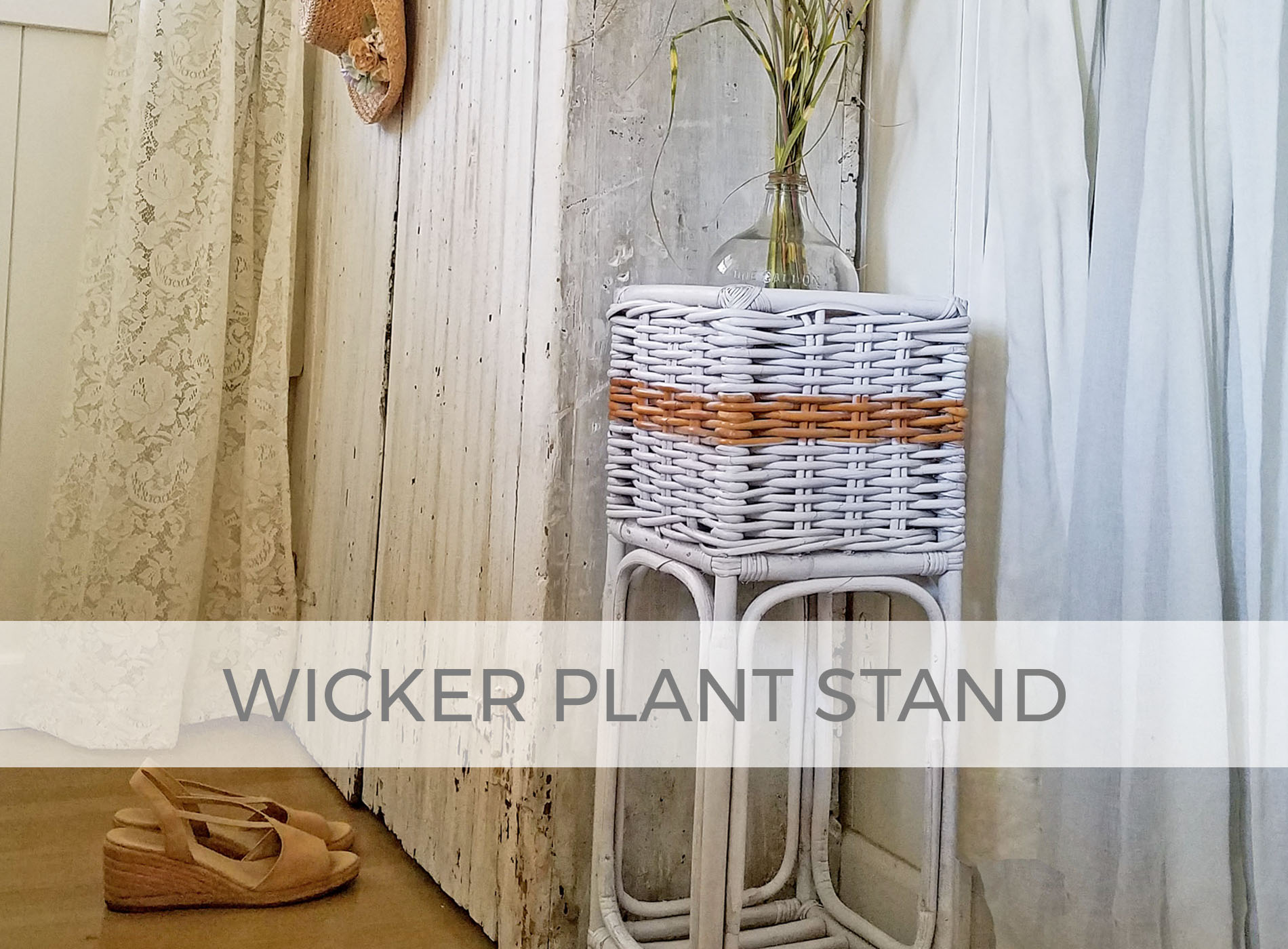 Wicker Plant Stand Makeover by Larissa of Prodigal Pieces | prodigalpieces.com
