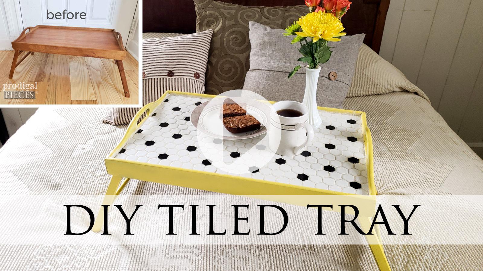 DIY Tiled Tray Tutorial by Larissa of Prodigal Pieces | prodigalpieces.com