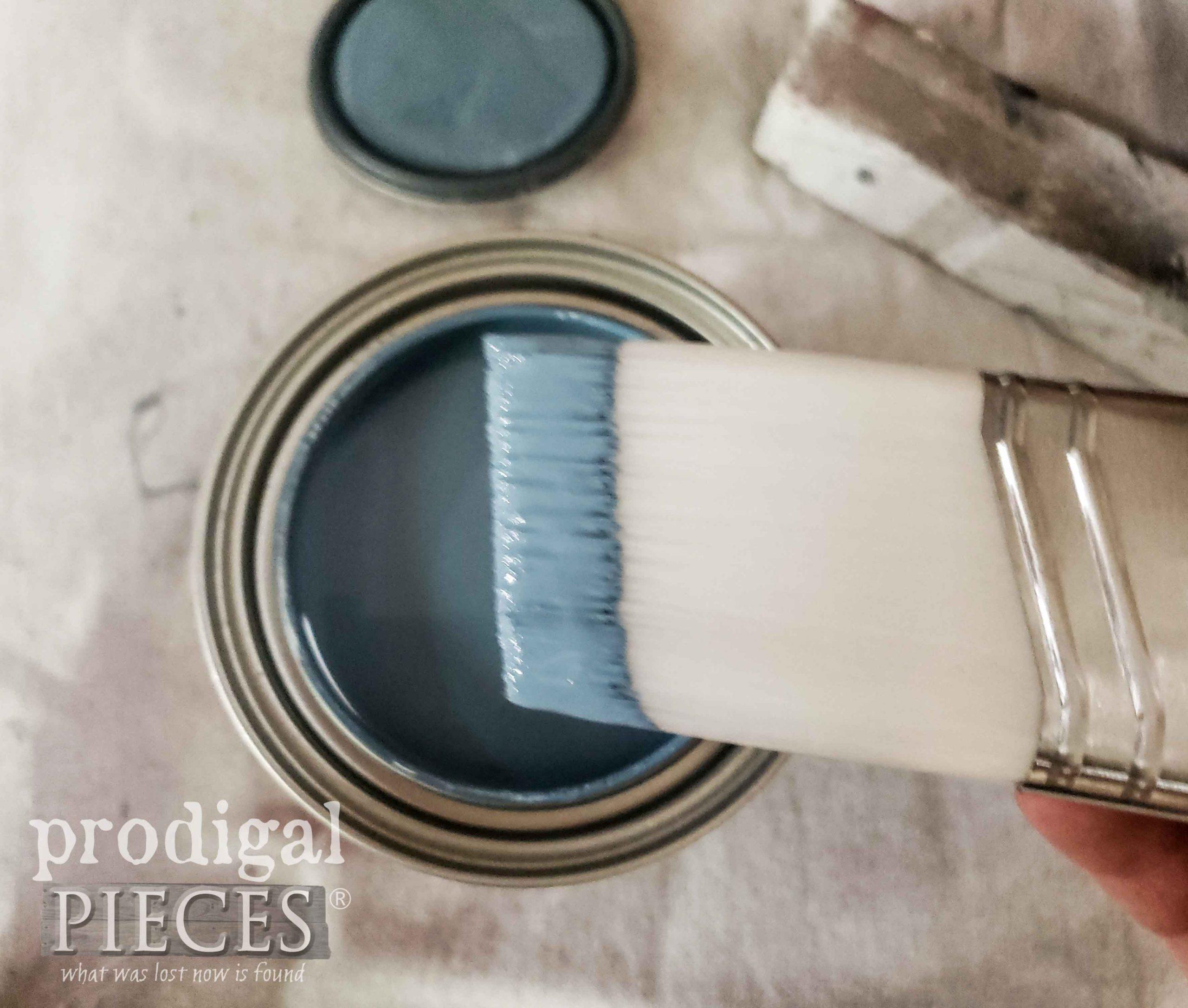 Blueprint Blue Paint for Cottage Style Cupboard   prodigalpieces.com