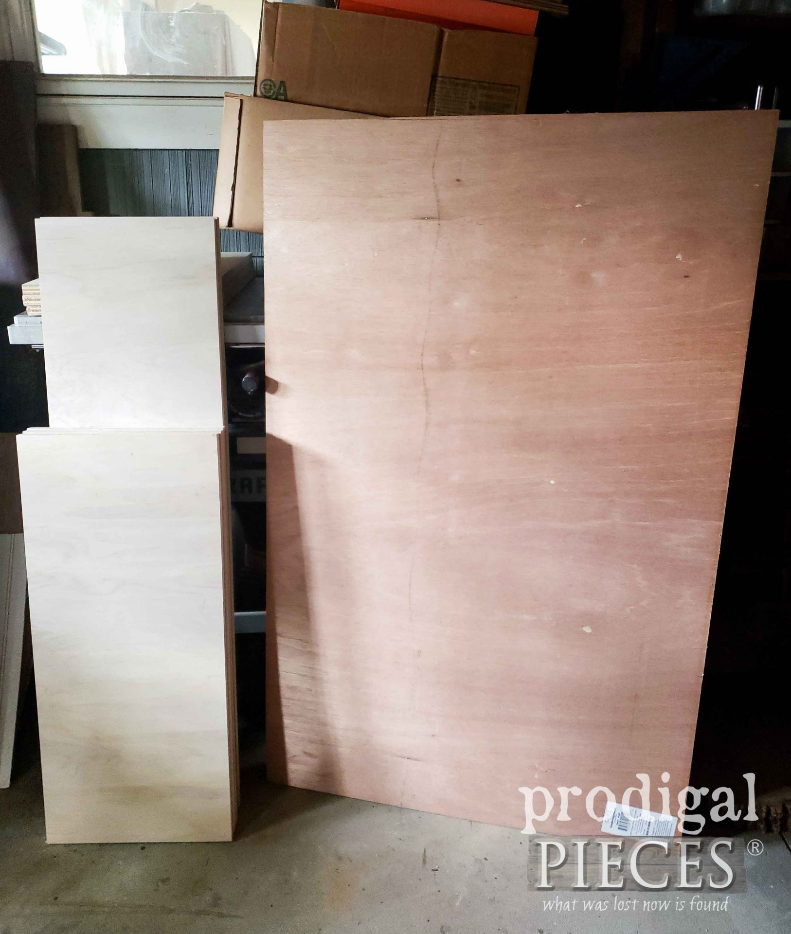 Cut Wood Pieces for Repurposed Curio Cabinet into Cupboard by Larissa of Prodigal Pieces | prodigalpieces.com