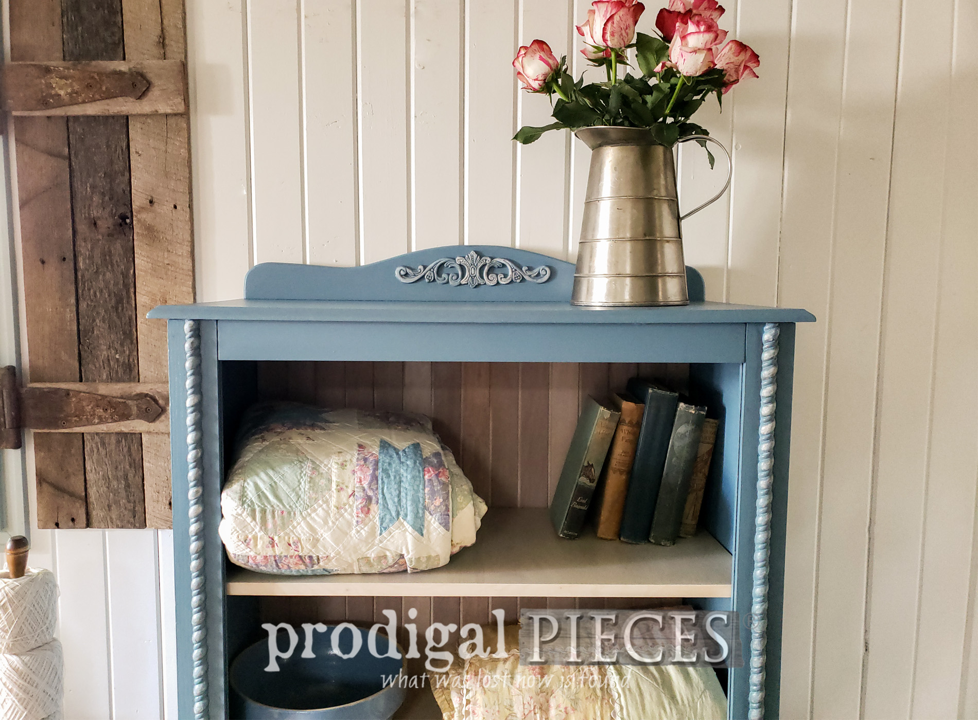 Featured Repurposed Curio Cabinet into Cottage Cupboard by Larissa of Prodigal Pieces | prodigalpieces.com #prodigalpieces #diy #cottage #farmhouse #cupboard #furniture #home #homedecor