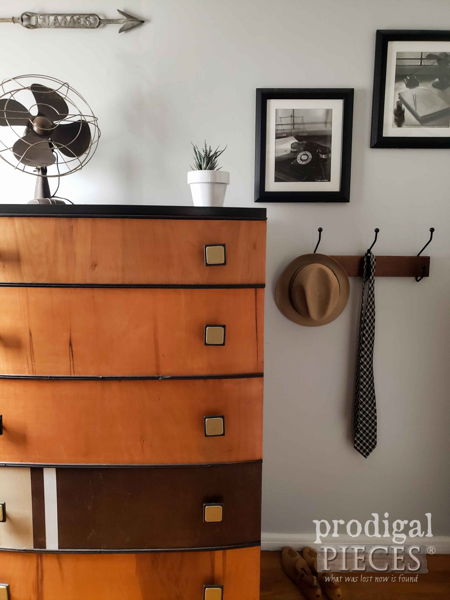 Gentleman's Chest of Drawers in Art Deco Style by Larissa of Prodigal Pieces | prodigalpieces.com #prodigalpieces #diy #furniture #home #homedecor