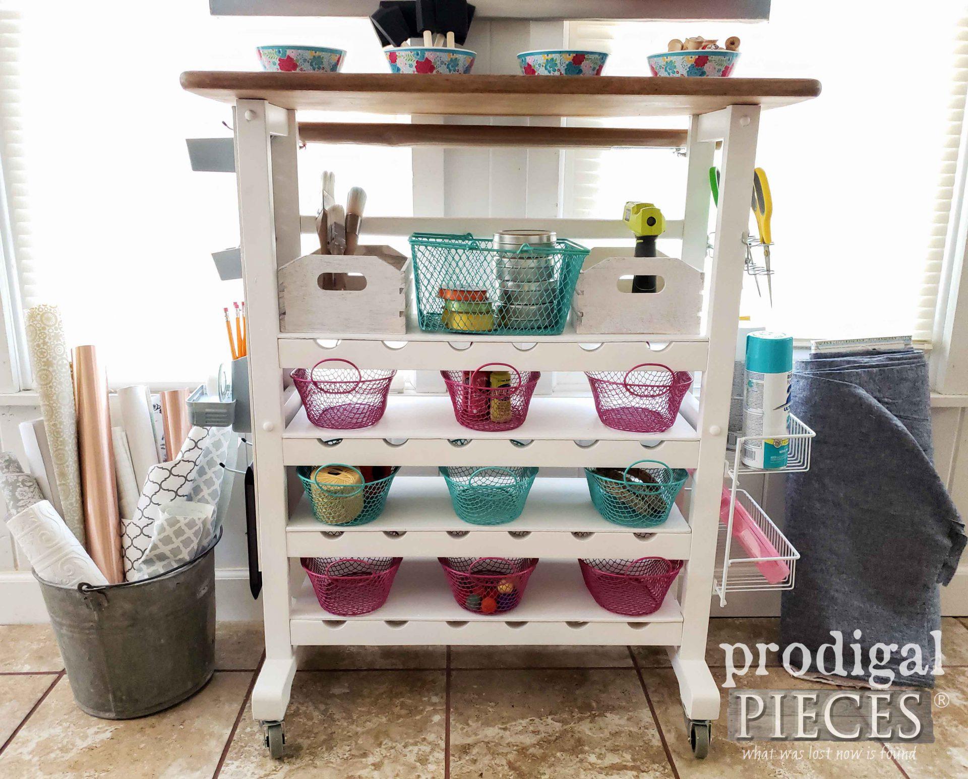 Handmade Craft Storage by Larissa of Prodigal Pieces | prodigalpieces.com #prodigalpieces #farmhouse #cottage #diy #storage #crafts